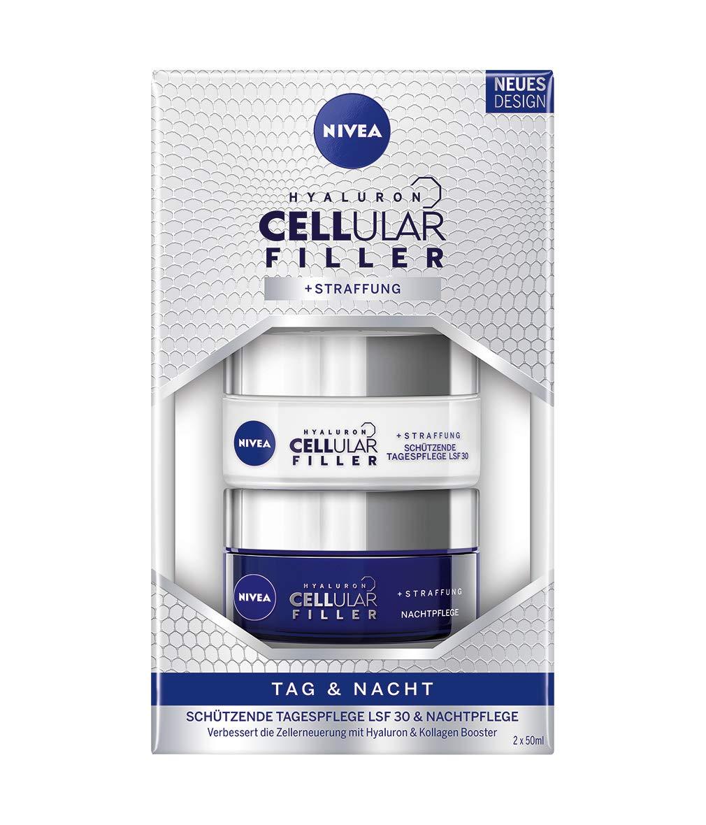 NIVEA Hyaluron Cellular Filler + Straffung Tag und Nacht Pflege-Set, 100 ml 91565-01008-07