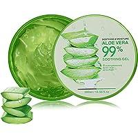 Aloe Vera Gel 300 ml naturlig lugnande och närande fuktkräm ekologisk kräm 99 % ren, perfekt för solbränna reparation…
