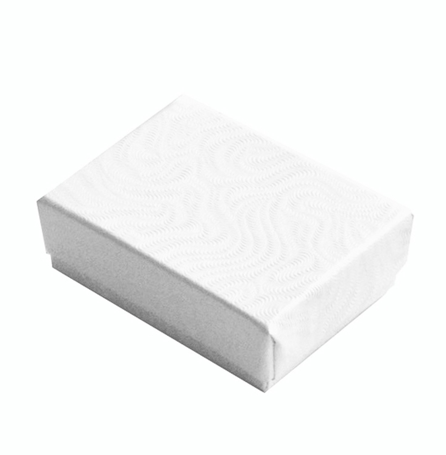 Lot of 25 pcs 1 7/8'' x 1 1/4'' x 5/8'' White Cotton Filled Jewelry Boxes