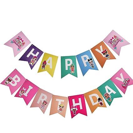 Amazon.com: Banner de LOL, pancarta de feliz cumpleaños ...