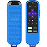Protective Case for TCL Roku TV Steaming Stick 3600R Remote, Silicone Cover Shock Proof Remote Controller Skin, Anti Slip Universal Replacement Sleeve (Blue)