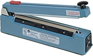 "AIE AIE-305C Impulse Handheld Sealer with Cutter, 12"" Max. Seal Length, 8 mil Max. Material Thickness, 5 mm Seal Width, 850 Watts, Equipped with a sliding blade that cuts excess material a quarter of an inch from the seal"