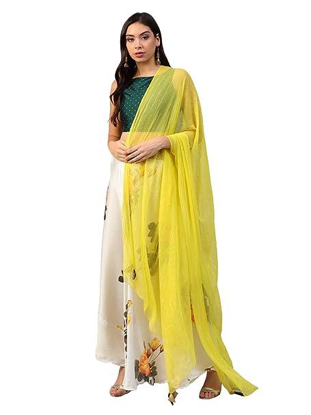 406ad8f35 Inddus Women s Art Silk Semi-stitched Top with Satin Lehenga Choli with  Dupatta (IND-IFW-157