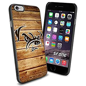 Cleveland Browns NFL Team Wood Logo iphone 4 4s inch Case Black Rubber Cover Protector