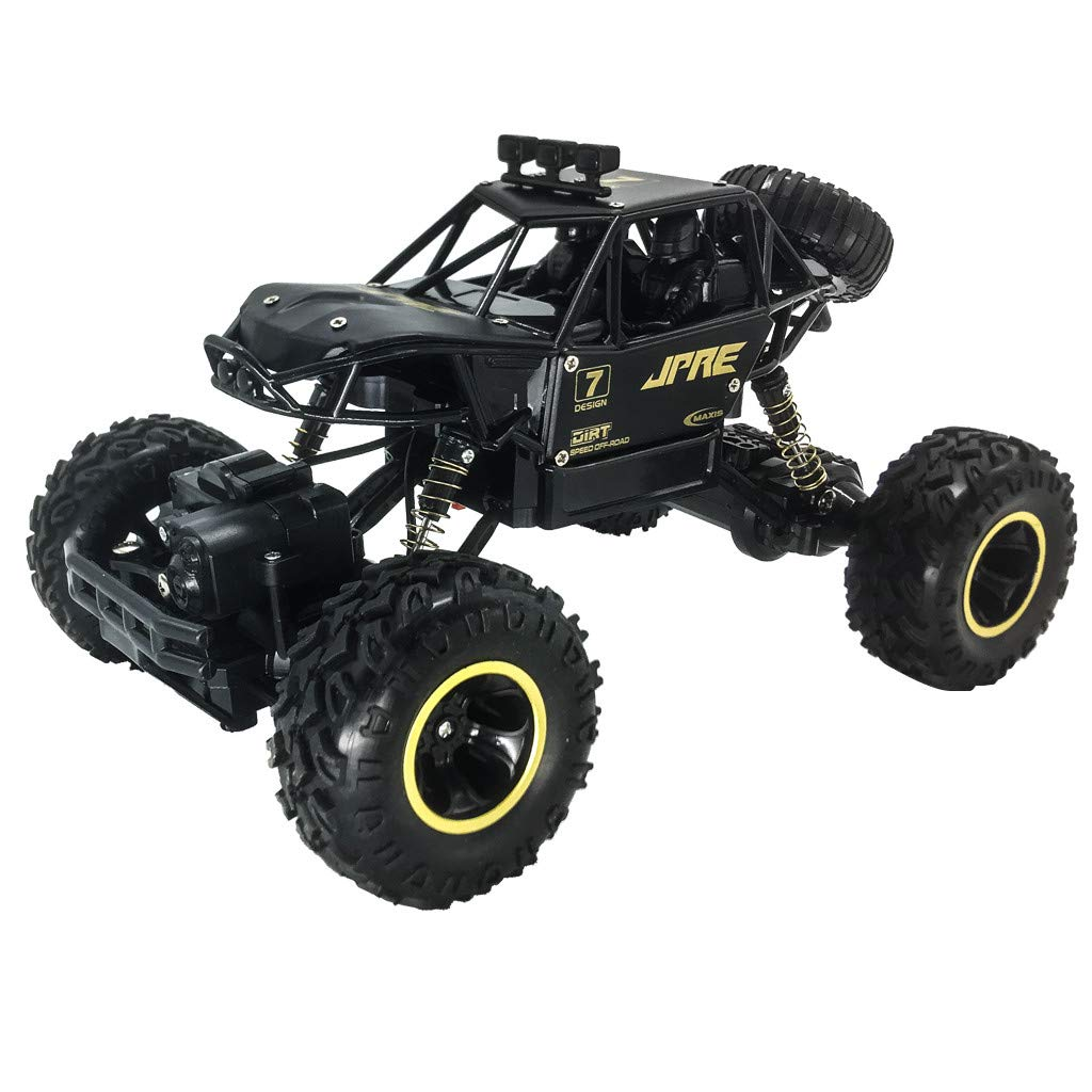1:16 2.4GHz Wireless Remote Control RC Car Off Road High Speed RC Car Tracks 4WD Radio Remote Control RC Car 1/16 Scale RC Rock Crawler Off-Road Vehicle Toy for Kids and Adults