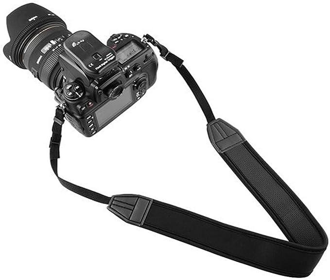 LXH Correa de cintur/ón de neopreno de confort extra ancha para Canon EOS 750D 700D 550D 6D Mark II 5D Mark III 5D Mark Iv 1D Mark II para Fujifilm Nikon Olympus