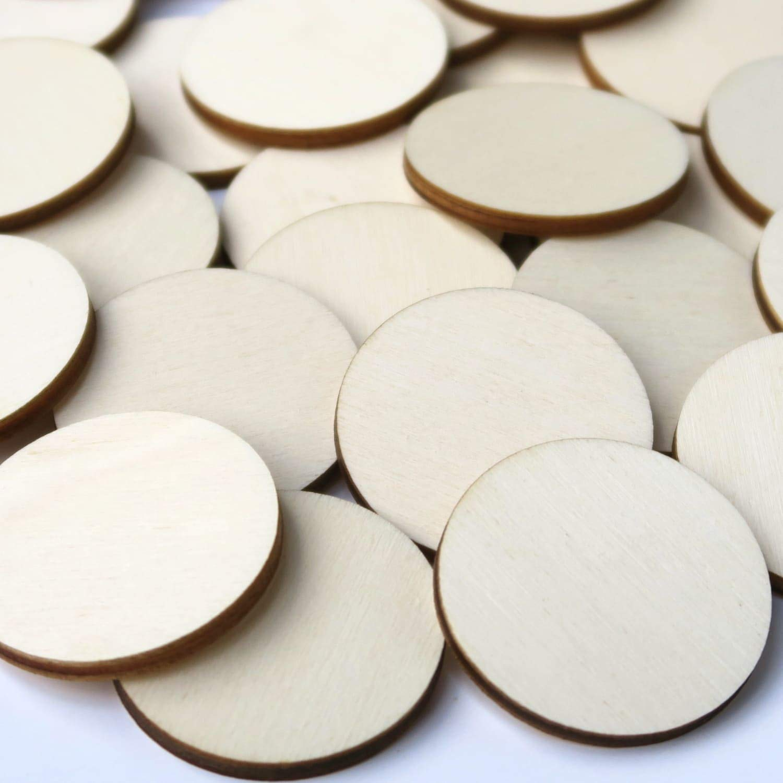 1-10cm Streudeko Basteln Deko Tischdeko Gr/ö/ße:Kreise 8cm Holz Kreise Pack mit:10 St/ück