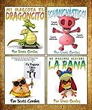 ¡Cuatro Historias Fantásticas Para Niños 3-6! (¡Mi Mascota El Dragoncito, Mi Mascota Alocada La Rana, Un Pequeño Libro Sobre Ti y Chanchástico!) (Spanish Edition)