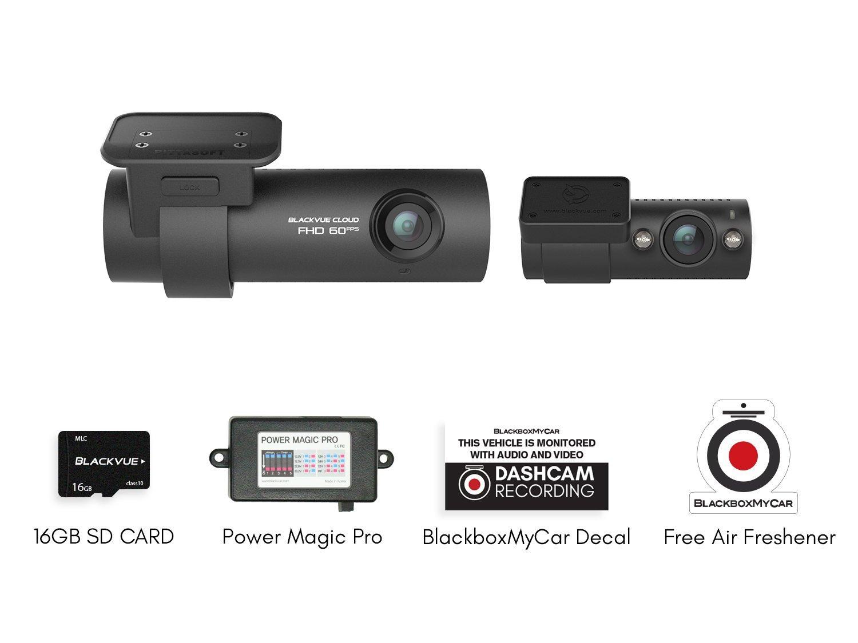 BlackvueBV-DR750S-2CH-16 + BV-PSPMP 2CH IR Infrared Dual Channel Dash Cam