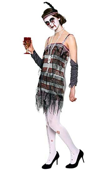 1920s Costumes: Flapper, Great Gatsby, Gangster Girl Rubies Costume Co Womens Lady Gravestone Costume $44.49 AT vintagedancer.com