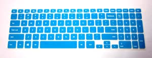 "BingoBuy Semi-Blue Backlit Ultra thin Silicone Keyboard Protector Skin Cover for 15.6'' Dell Inspiron 15-7537, i7537T, i7537T-3342sLV, i7537T-1121sLV, i7537T-4340sLV (if your ""enter"" key looks like ""7"", our skin can't fit) with BingoBuy Card Case for Credit, Bank, ID Card"