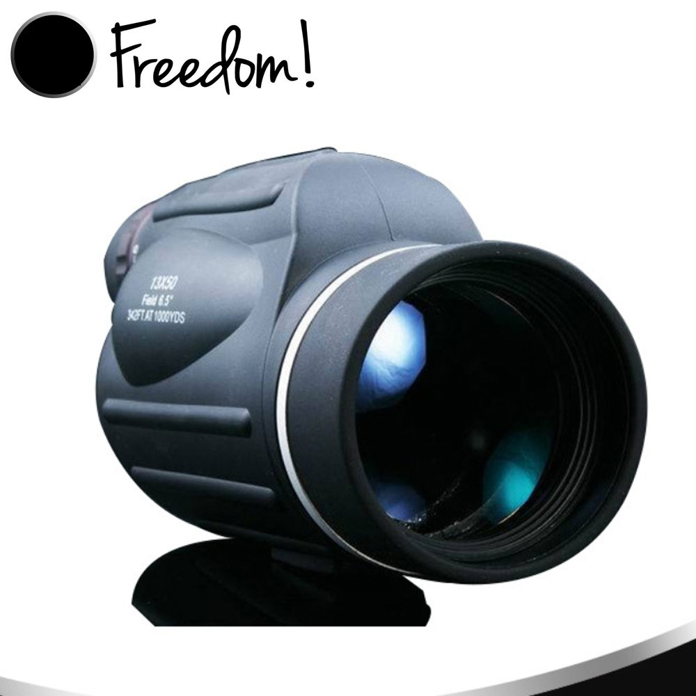 13×50 Monocular with High Powered Prism Telescope Single Hand Focus for Hunting Traveling Sporting Events Bird Watching, Waterproof Unrivaled Brightness and Clarity