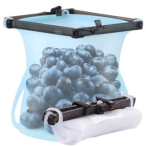 2 bolsas de silicona reutilizables para alimentos ...