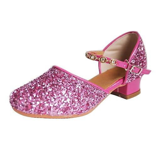 6188d0b81 Sayla Zapatos Bailarina para NiñA Baile Tango Latino Vestir Fiesta Latin  Tango Zapatos De Baile De Hebilla Plana Correa Bling Zapatos  Amazon.es  Zapatos  y ...