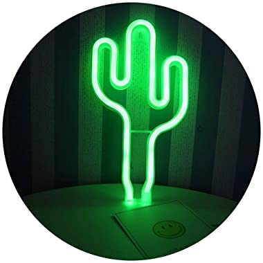 LED Cactus Neon Light Sign Wall Decor Night Lights Home Decoration Party Supplies LED Decorative Lights