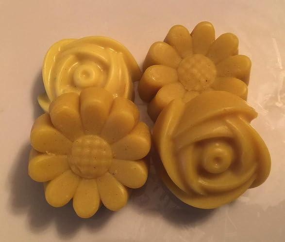 0a06d960de2 Amazon.com: 4 Organic Flower Shaped Lotion Bars 1 oz each -Spa-Massage-Moisture-  Sun Care- Dry Skin- Butters-Handmade: Handmade