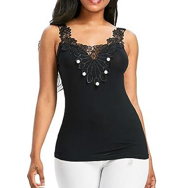 DAY8 Femme Vetements Chic Soiree Éte Chemise Haut Femme Grande Taille  Dentelle T-Shirt Femme cc0ef4322a7f