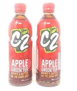 C2 Apple Green Tea 500ml, 2 Pack