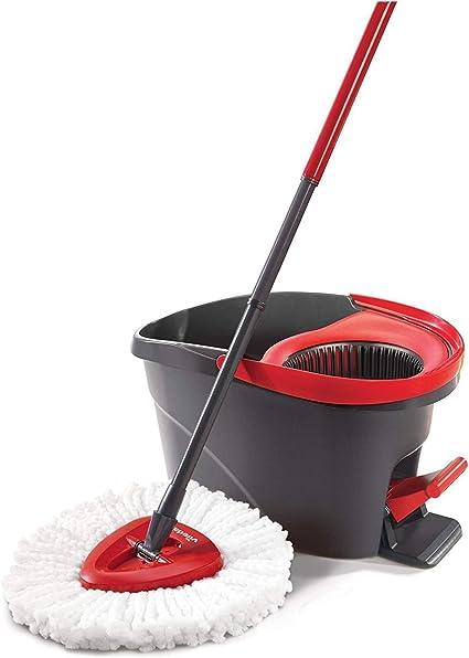 Vileda Mop And Bucket Set Turbo Rotating Spin Microfibre Cloth Floor Cleaner UK