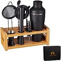 LEMONSODA 8-Piece Cocktail Shaker Set with Stand - Complete Mixology Bartender Kit for Home Bar - Drink Mixer Barware…
