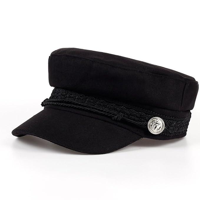 Xuzirui Octagonal Cap Wool Button Adjustable Baseball Caps Sun Visor Hat Gorras Casquette Touca Black Casual