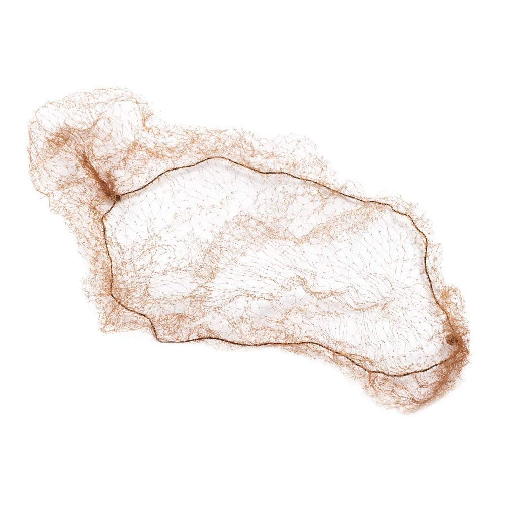 "1440 Pack Light Brown Thin Nylon Hairnets 28"" size. Disposable hairnets. Protective Hair Nets with Elastic Edge. Stretchable Hairnet Caps for Non-Medical Use. Lightweight, Breathable. Wholesale price."