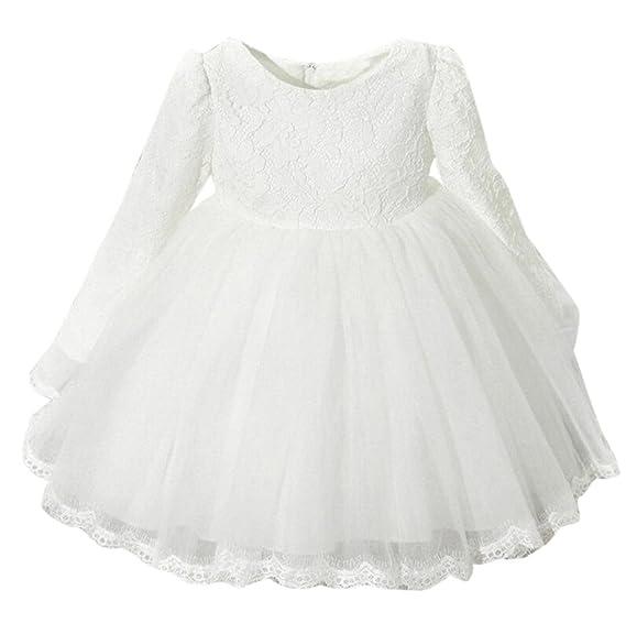 Vestidos Niñas Fiestas Boda, K-youth® Ropa Bebe Niña Vestido Bebe Bautizo Vestido