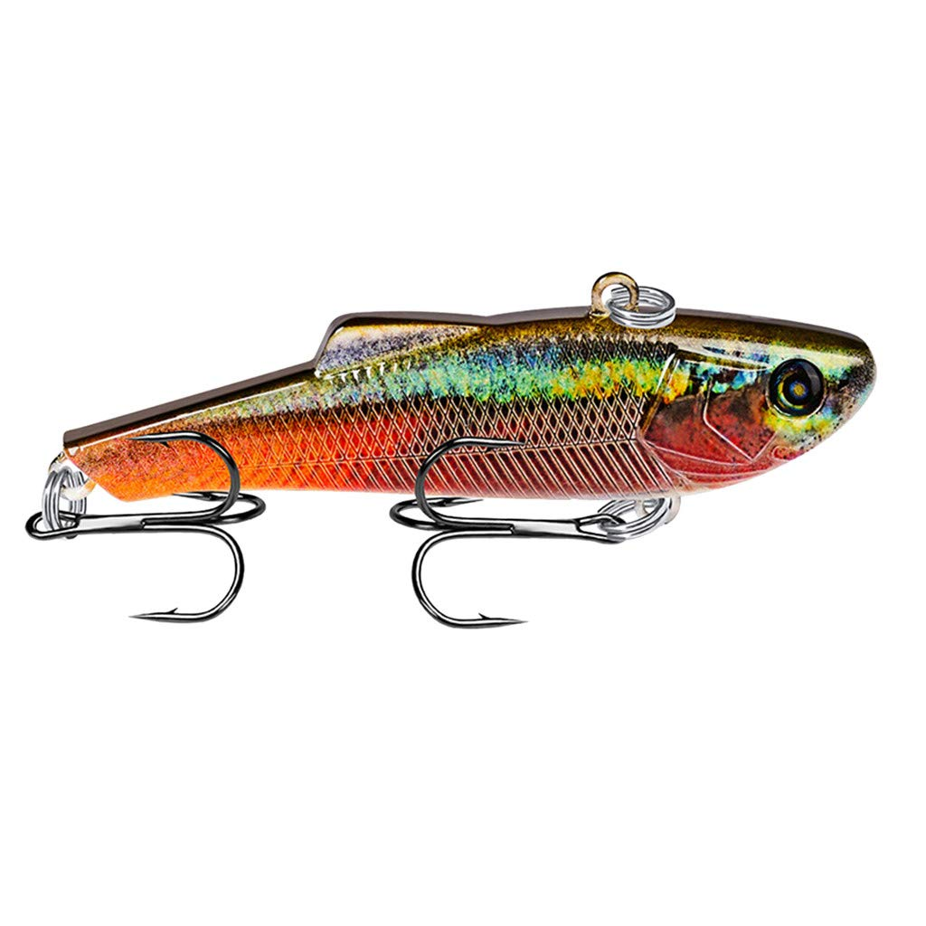 HighlifeS Fishing Bait Newest Artificial Fake Fish Bait More Colors Fishing Lure Bait Bionic Fishing Gear 1Pc (D)
