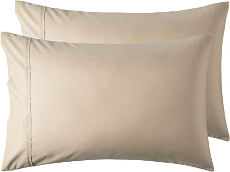 Bedsure White Pillowcase Set Envelop Closure Pillow Case Set of 4 Wrinkle Fade /& Stain Resistant 20x30 inches Queen Size Bed Pillow Cover Brushed Microfiber