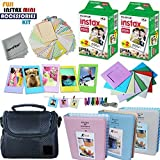 Xtech FujiFilm Instax Mini PRO Accessories Kit f/Fujifilm Instax Mini 8, Mini 8+, Mini 70, Mini 7, Mini 7s, Mini 90, Mini 25, Mini 50s Includes: 40 Instax Film + Frames + Case + Photo Albums + MORE