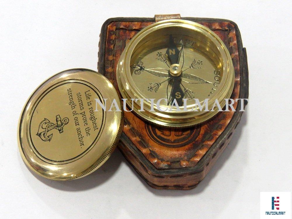 NAUTICALMARTソリッド真鍮コンパス