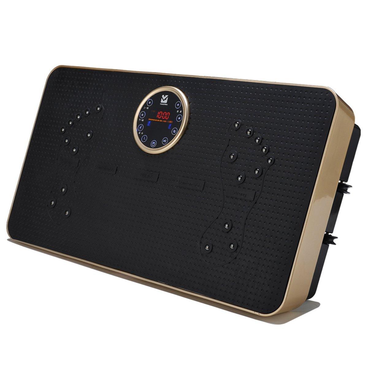 stylishjapan(スタイリッシュジャパン) スリミング 振動ステッパー 円盤メーター型 音楽プレイヤー機能付 老害物排出 脂肪燃焼 エクスサイズ ダイエット  ゴールド B01GCQF4NI