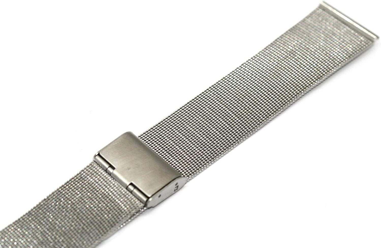 20MM Silver Stainless Steel MESH Metal Buckle Watch Band Strap