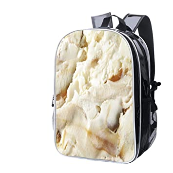 High-end Custom Laptop Backpack-Leisure Travel Backpack Dulce de Leche Swirl Ice Cream
