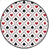 Short Plush Round Carpet Casino Poker Cards Advertising Holidays Getaways Tourist Destinations Pleasure Living Room Computer Chair 59'' x 59'' Round