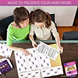 aGreatLife 12-Sheet Peel & Stick Puzzle Saver: Preserve and Hang Your Jigsaw Masterpiece Without Hassle - Easily Frame Most Boards With a Strong Adhesive That Lasts