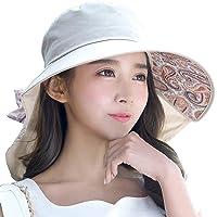 SIGGI Verano Bill Flap Cap UPF 50+ Sun Hat con Cubierta de Cuello Cord de algodón para Las Mujeres