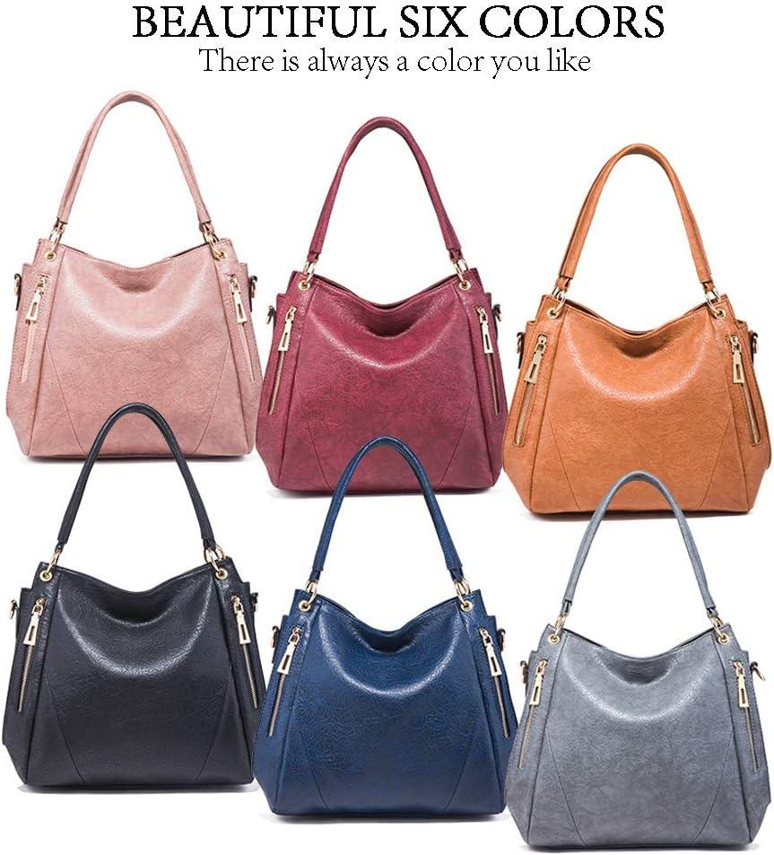 Azul profundo Pahajim Bolso de Mano Grande para Mujer Moda Cuero de la PU Bolso de mano Tote Bag Bolso Shopper Damas Bolso de Hombro