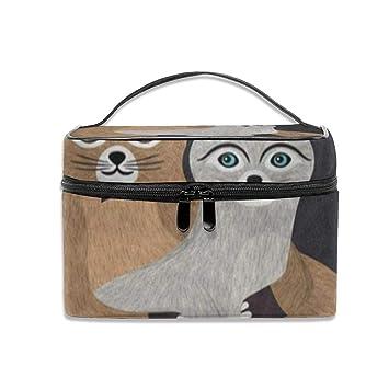 Amazon.com: Bolsa de maquillaje para pareja, gato, gatito ...