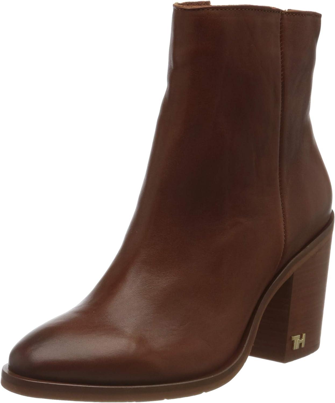 Tommy Hilfiger Damen Mono Color Heeled Boot Stiefeletten