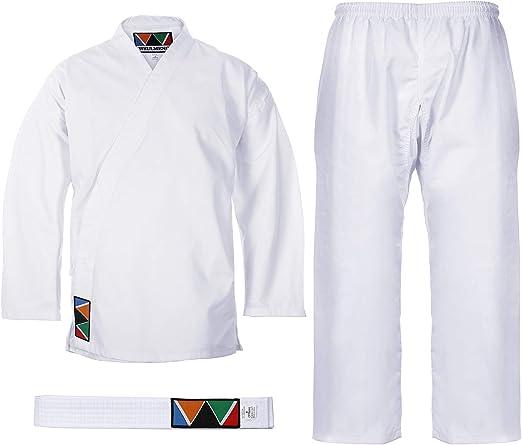 White Super  Judo GI Training Complete Uniform with free belt    000-6 size
