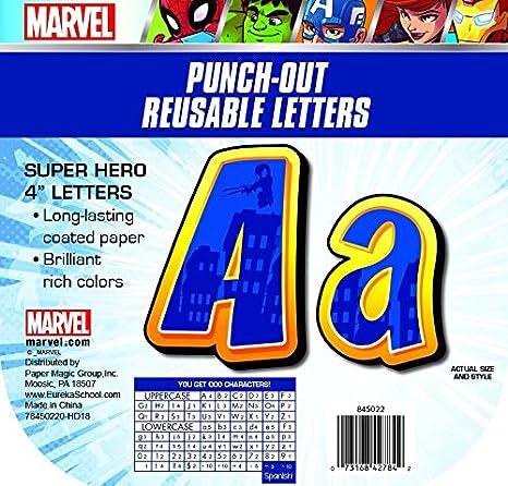 Eureka Marvel Avengers Large Deco Letters Classroom Decorations For Teachers 200 Pc 4 H
