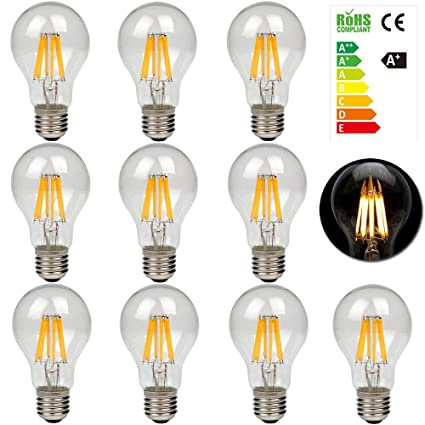 do leds stay colder than filament lamps