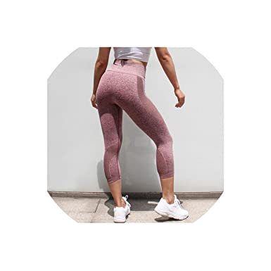 Amazon.com: Legging Yoga Pants Seamless Mesh Mention Hip Gym ...