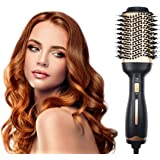 AU Plug Hot Air Brush, Hair Dryer Brush And Volumizer for Hair Styling, Multi-functional 3-in-1 Professional Salon…