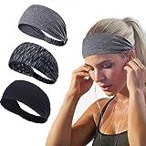 Joyfree Workout Headbands for Women Men Sweatband Yoga Sweat Bands Elastic Wide Headbands for Sports Fitness Exercise…