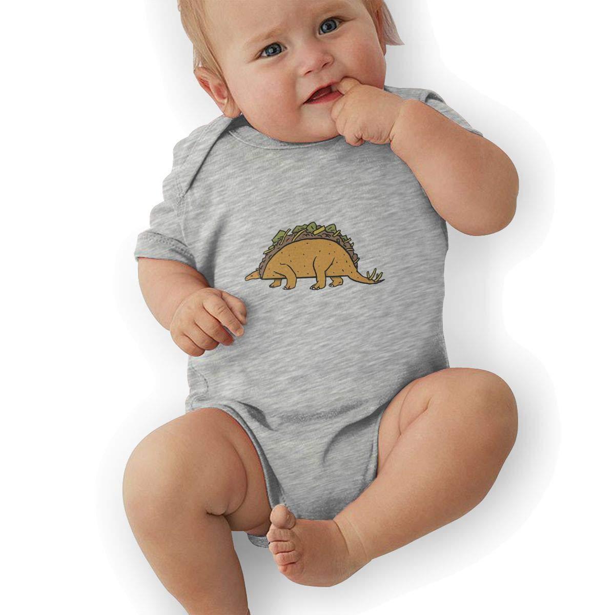 Toddler Baby Boys Bodysuit Short-Sleeve Onesie Taco Dinosaur Print Outfit Spring Pajamas