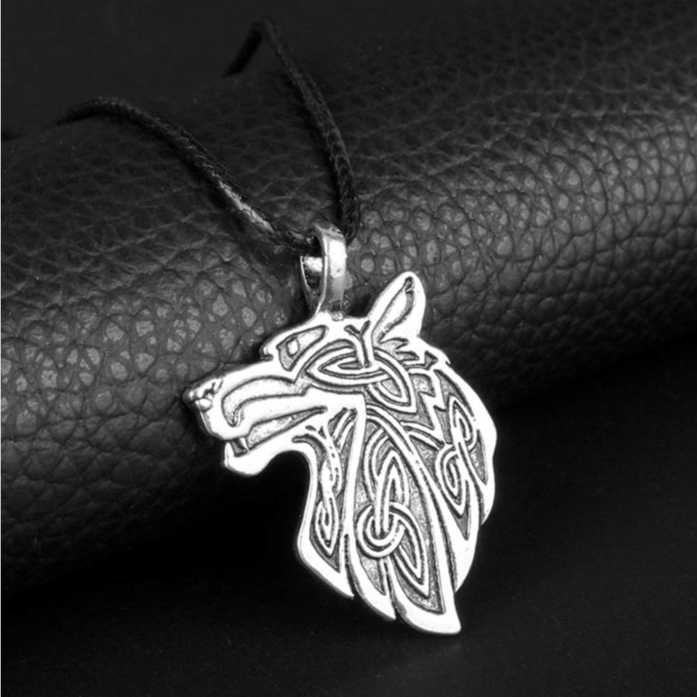 LH/&BD Viking Necklace,Fox Wolf Eagle Amulet Pendant Mens and Womens Couples Nordic Pirate Viking Series Pagan Celtic Accessories