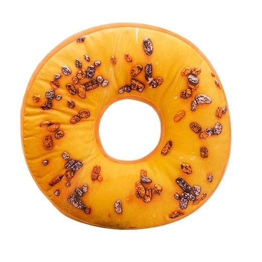 Fundas De Cojines, ❤️Xinantime Almohada de felpa suave Almohadilla de asiento relleno Sweet Donut Foods Funda de cojín Juguetes (❤️Multicolor F)