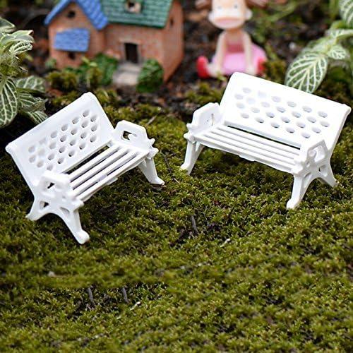 TFXWERWS Blanc Mini Jardin Jardinage Props Park Banc (Grande): Amazon.es: Hogar
